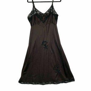 Vintage Black Nylon Slip size small